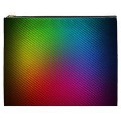 Bright Lines Resolution Image Wallpaper Rainbow Cosmetic Bag (xxxl)  by Mariart