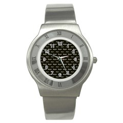 Beauty Moments Phrase Pattern Stainless Steel Watch by dflcprints