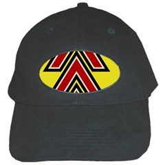 Chevron Symbols Multiple Large Red Yellow Black Cap by Mariart