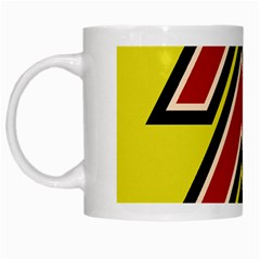Chevron Symbols Multiple Large Red Yellow White Mugs by Mariart