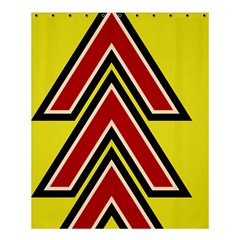 Chevron Symbols Multiple Large Red Yellow Shower Curtain 60  X 72  (medium)  by Mariart