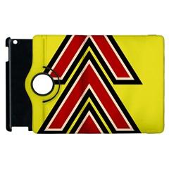 Chevron Symbols Multiple Large Red Yellow Apple Ipad 3/4 Flip 360 Case by Mariart