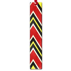 Chevron Symbols Multiple Large Red Yellow Large Book Marks by Mariart