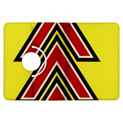 Chevron Symbols Multiple Large Red Yellow Kindle Fire Hdx Flip 360 Case by Mariart