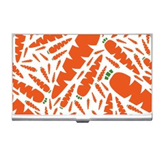 Carrots Fruit Vegetable Orange Business Card Holders by Mariart