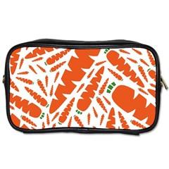 Carrots Fruit Vegetable Orange Toiletries Bags by Mariart