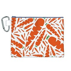 Carrots Fruit Vegetable Orange Canvas Cosmetic Bag (xl) by Mariart