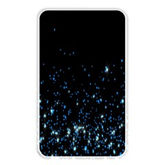 Blue Glowing Star Particle Random Motion Graphic Space Black Memory Card Reader by Mariart