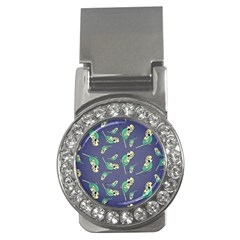 Canaries Budgie Pattern Bird Animals Cute Money Clips (cz)  by Mariart