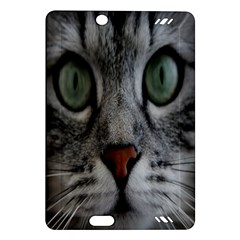 Cat Face Eyes Gray Fluffy Cute Animals Amazon Kindle Fire Hd (2013) Hardshell Case by Mariart