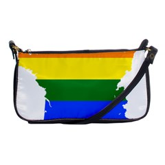 Flag Map Stripes Line Colorful Shoulder Clutch Bags by Mariart