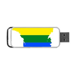 Flag Map Stripes Line Colorful Portable Usb Flash (one Side) by Mariart
