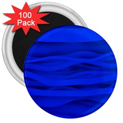 Dark Blue Stripes Seamless 3  Magnets (100 Pack) by Mariart