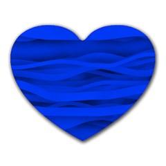 Dark Blue Stripes Seamless Heart Mousepads by Mariart