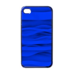 Dark Blue Stripes Seamless Apple Iphone 4 Case (black) by Mariart