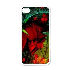 Flower Power, Wonderful Flowers, Vintage Design Apple Iphone 4 Case (white) by FantasyWorld7