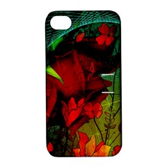 Flower Power, Wonderful Flowers, Vintage Design Apple Iphone 4/4s Hardshell Case With Stand by FantasyWorld7