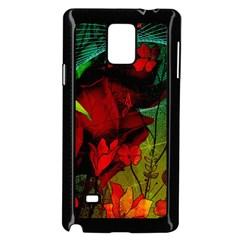 Flower Power, Wonderful Flowers, Vintage Design Samsung Galaxy Note 4 Case (black) by FantasyWorld7