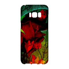 Flower Power, Wonderful Flowers, Vintage Design Samsung Galaxy S8 Hardshell Case  by FantasyWorld7