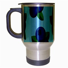 Fruit Nordic Grapes Green Blue Travel Mug (silver Gray) by Mariart