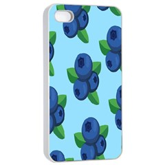 Fruit Nordic Grapes Green Blue Apple Iphone 4/4s Seamless Case (white) by Mariart