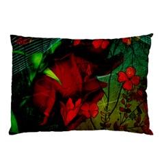 Flower Power, Wonderful Flowers, Vintage Design Pillow Case by FantasyWorld7