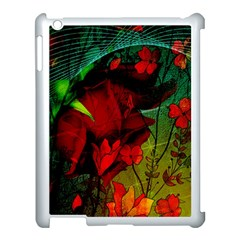 Flower Power, Wonderful Flowers, Vintage Design Apple Ipad 3/4 Case (white) by FantasyWorld7