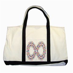 Free Symbol Hands Two Tone Tote Bag by Mariart