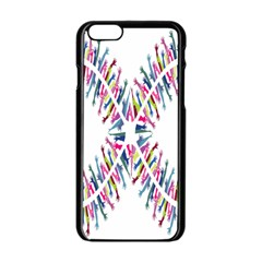Free Symbol Hands Apple Iphone 6/6s Black Enamel Case by Mariart