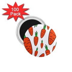Fruit Vegetable Carrots 1 75  Magnets (100 Pack)  by Mariart