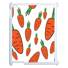 Fruit Vegetable Carrots Apple Ipad 2 Case (white) by Mariart