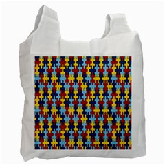 Fuzzle Red Blue Yellow Colorful Recycle Bag (one Side) by Mariart