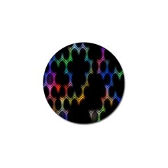 Grid Light Colorful Bright Ultra Golf Ball Marker (4 Pack) by Mariart