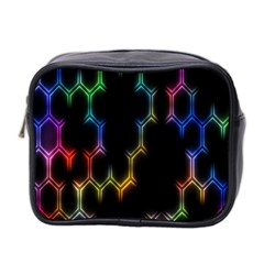 Grid Light Colorful Bright Ultra Mini Toiletries Bag 2 Side by Mariart