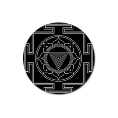 Kali Yantra Inverted Magnet 3  (round) by Mariart