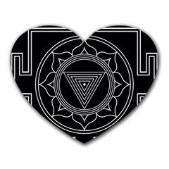 Kali Yantra Inverted Heart Mousepads by Mariart