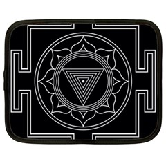Kali Yantra Inverted Netbook Case (xl)  by Mariart