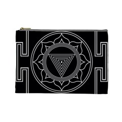 Kali Yantra Inverted Cosmetic Bag (large)  by Mariart