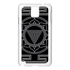 Kali Yantra Inverted Samsung Galaxy Note 3 N9005 Case (white) by Mariart