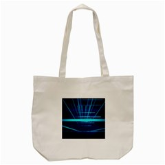 Grid Structure Blue Line Tote Bag (cream) by Mariart