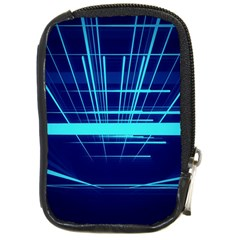 Grid Structure Blue Line Compact Camera Cases by Mariart