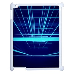 Grid Structure Blue Line Apple Ipad 2 Case (white) by Mariart