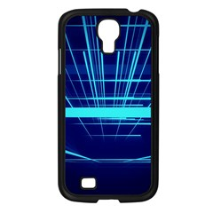Grid Structure Blue Line Samsung Galaxy S4 I9500/ I9505 Case (black) by Mariart