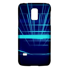 Grid Structure Blue Line Galaxy S5 Mini by Mariart