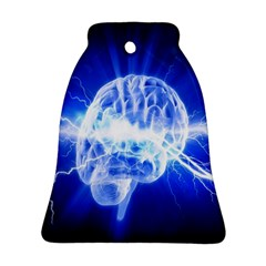 Lightning Brain Blue Bell Ornament (two Sides) by Mariart