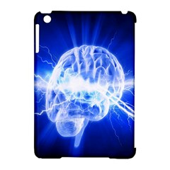 Lightning Brain Blue Apple Ipad Mini Hardshell Case (compatible With Smart Cover) by Mariart