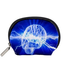 Lightning Brain Blue Accessory Pouches (small)