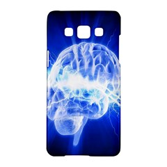 Lightning Brain Blue Samsung Galaxy A5 Hardshell Case  by Mariart