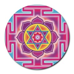 Kali Yantra Inverted Rainbow Round Mousepads by Mariart