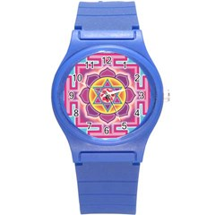 Kali Yantra Inverted Rainbow Round Plastic Sport Watch (s) by Mariart